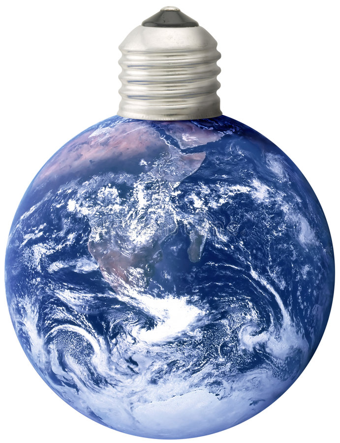 Free Earth With Lightbulb Base Royalty Free Stock Photography - 3212467