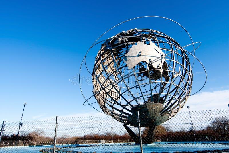 Earth world globe unisphere in New York stock photo