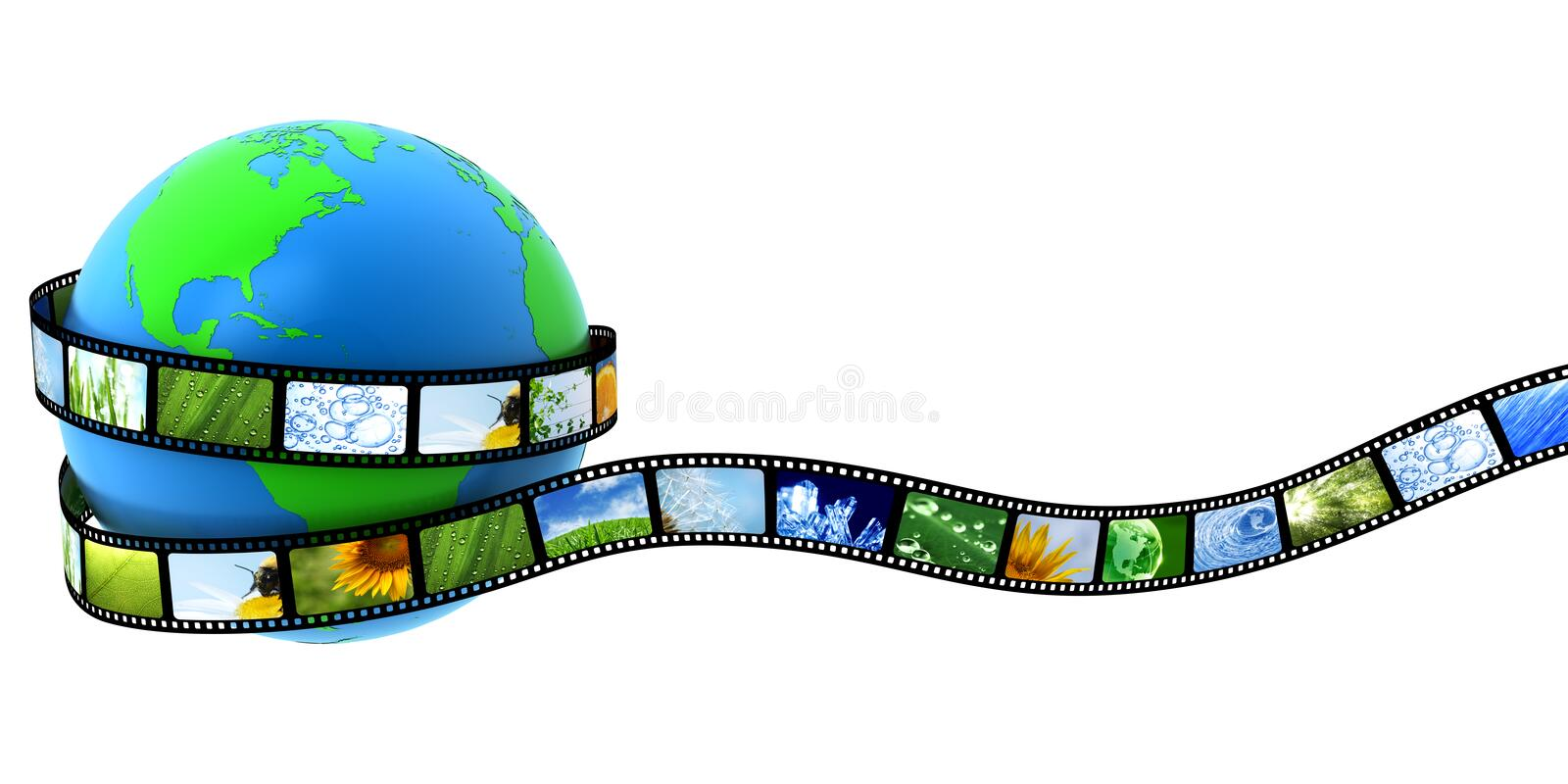 Download Earth wrapped in film stock illustration. Illustration of photo - 13502877