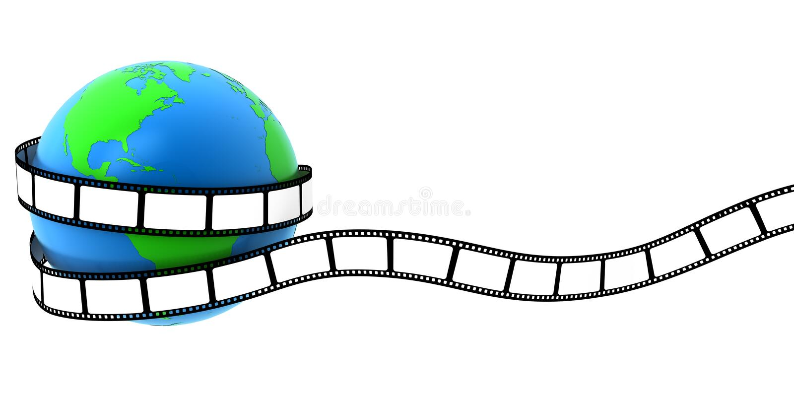 Download Earth wrapped in film stock illustration. Illustration of illustration - 18468741