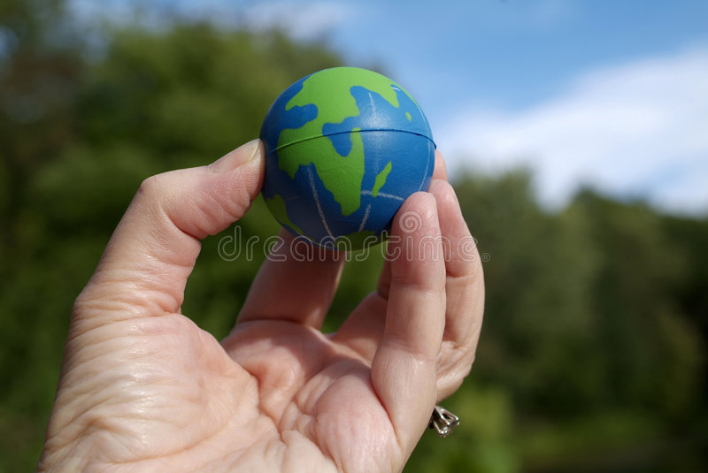 Download Earth at your fingertips stock image. Image of ecologic - 2985307