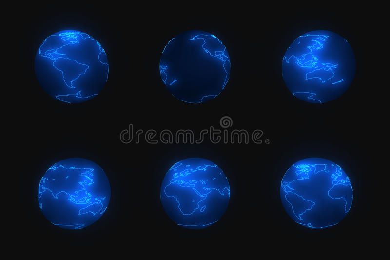 Earth2 ilustração do vetor