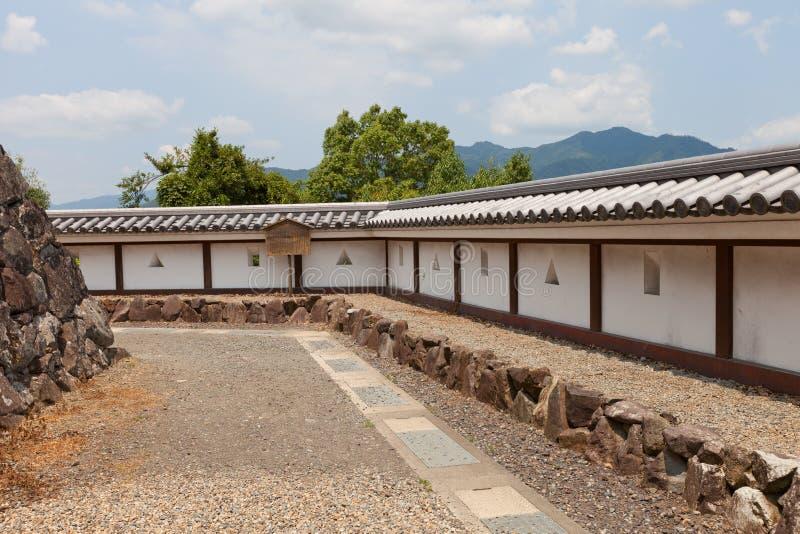 Earthen ścienny Hei Fukuchiyama kasztel w Fukuchiyama, Japonia obraz royalty free