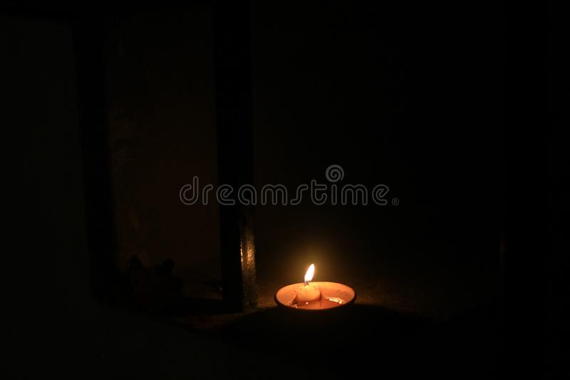 The earthen lamp brightens the night of Diwali. In India royalty free stock images