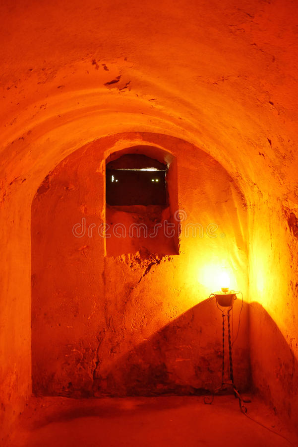 Earthen Room With Glowing Light royalty free stock photo
