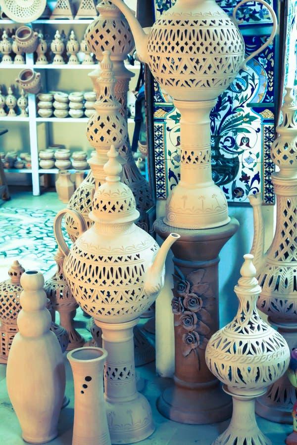 Earthenware in the market, Djerba, Tunisia. Earthenware in the market Djerba Tunisia Africa stock image
