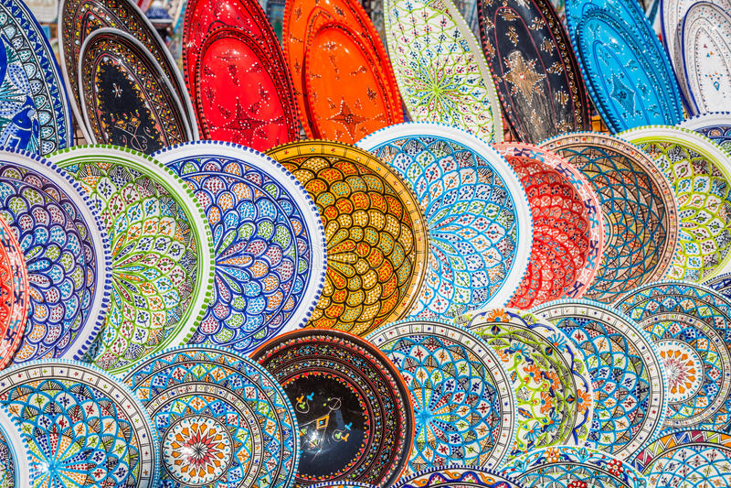 Earthenware in the market, Djerba, Tunisia. Earthenware in the market Djerba Tunisia Africa royalty free stock photos