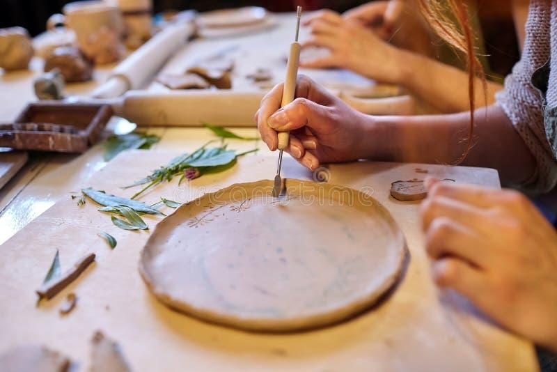 earthenware Productos de cerámica de la arcilla cruda foto de archivo libre de regalías
