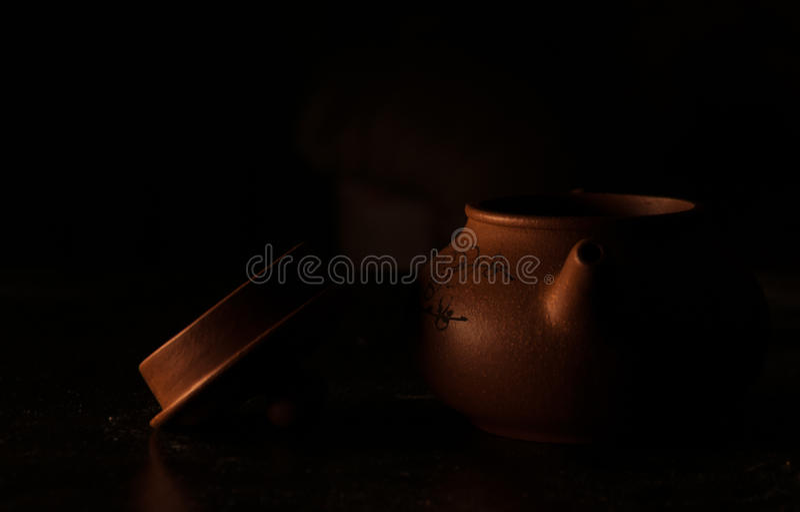 Earthenware teapot obrazy royalty free