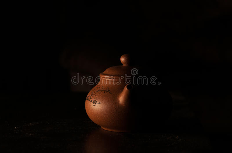 Earthenware teapot royalty free stock photography