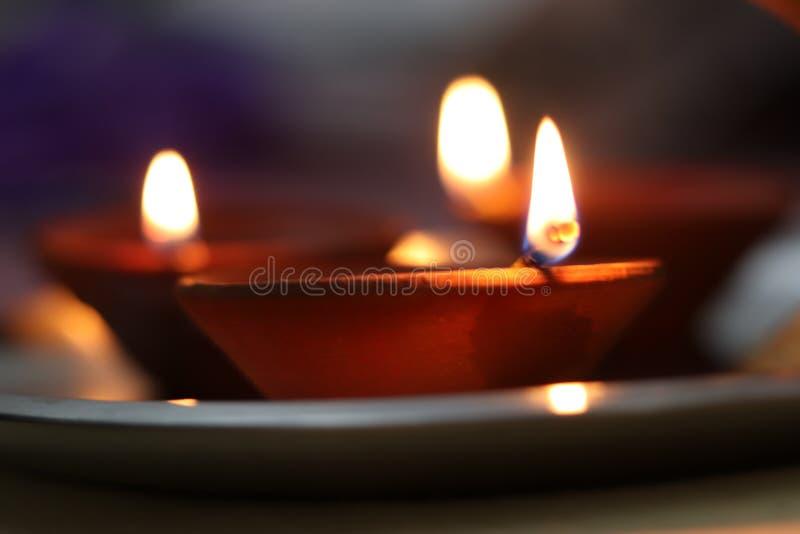 Earthern lampion Diwali fotografia stock