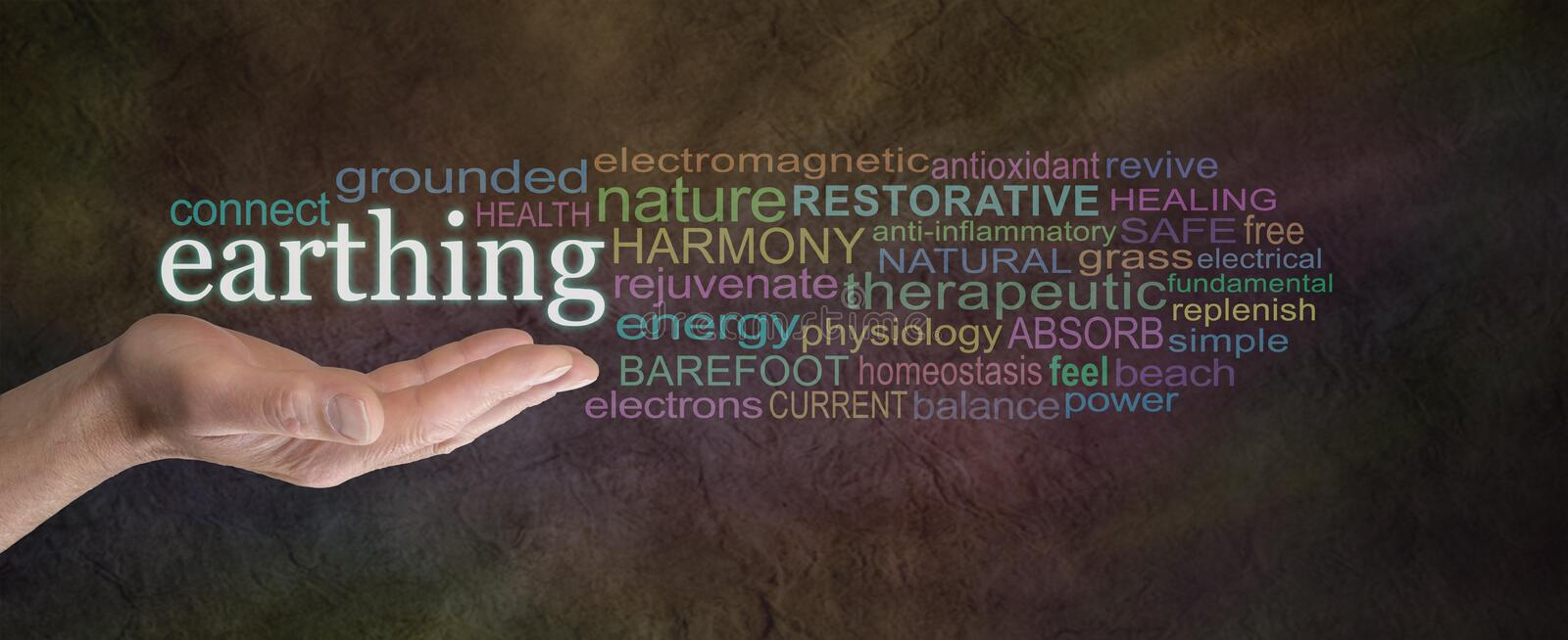 Earthing Word Cloud royalty free stock photos