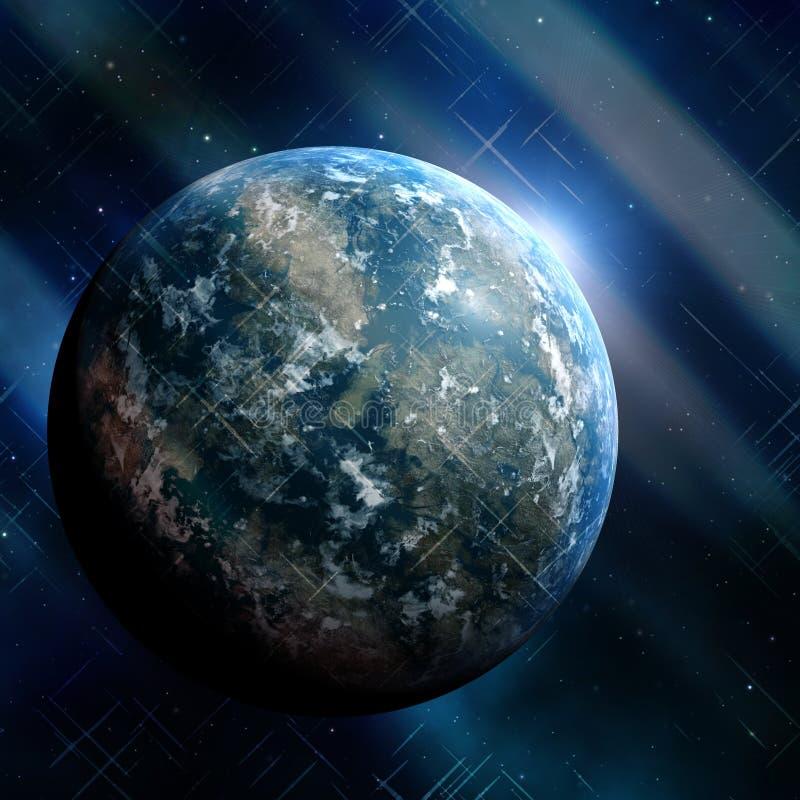earthlike планета иллюстрация штока