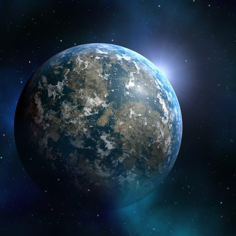 Earthlike Planet lizenzfreie abbildung