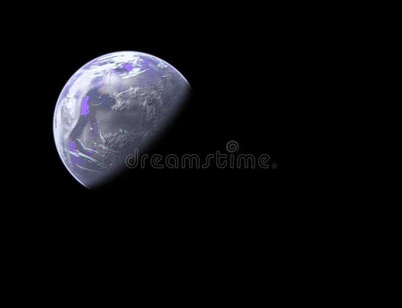 Earthlike Planet im Platz stock abbildung