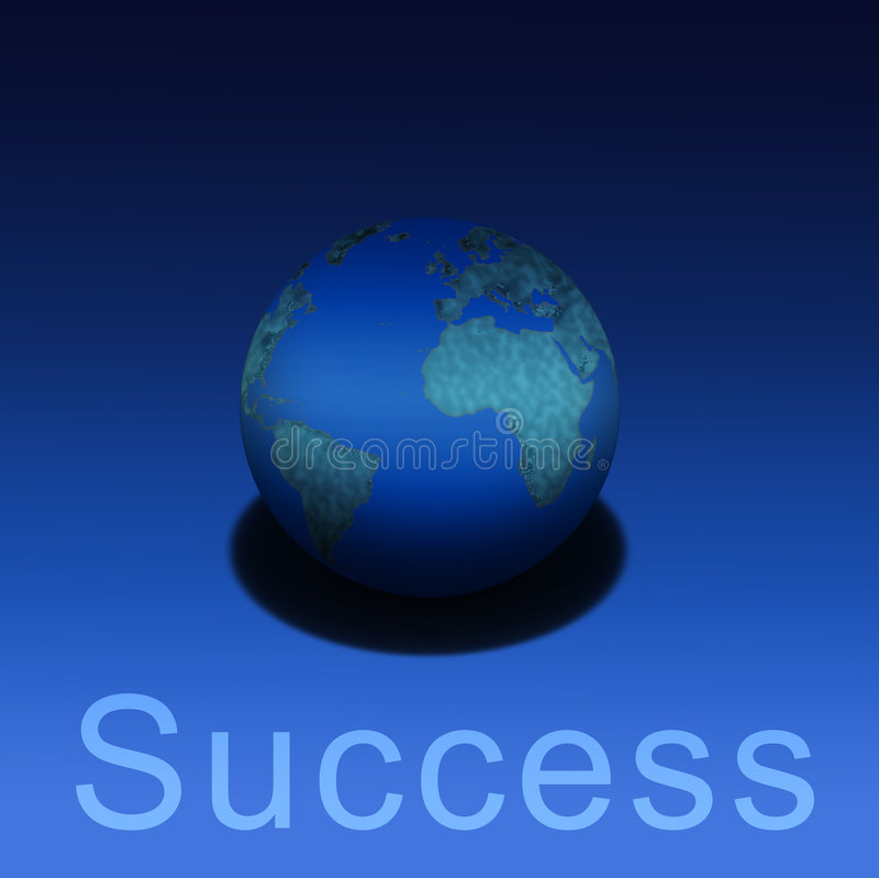 Earthly Success royalty free illustration