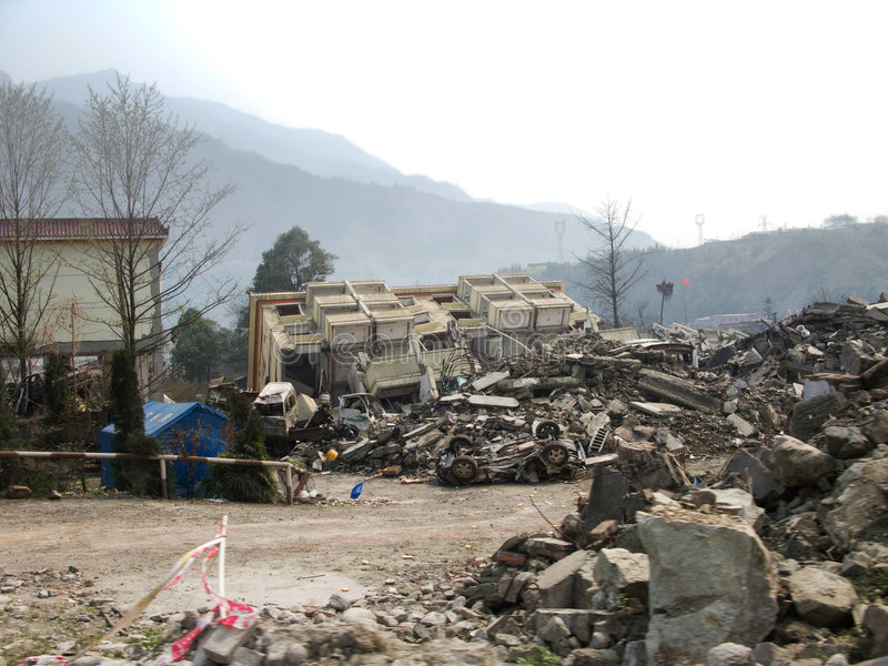 Download Earthquake stock image. Image of yingxiu, magnitude, china - 8700469