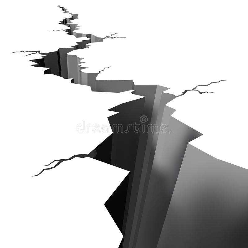 Download Earthquake Cracked Ground Floor Stock Illustration - Illustration of deep, epicenter: 22077822