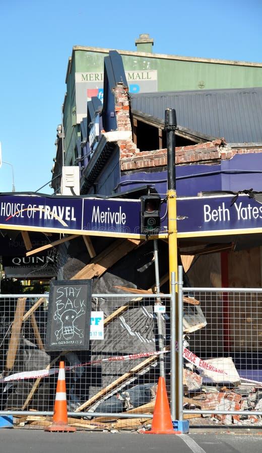 Earthquake Damage, Christchurch New Zealand stock photography
