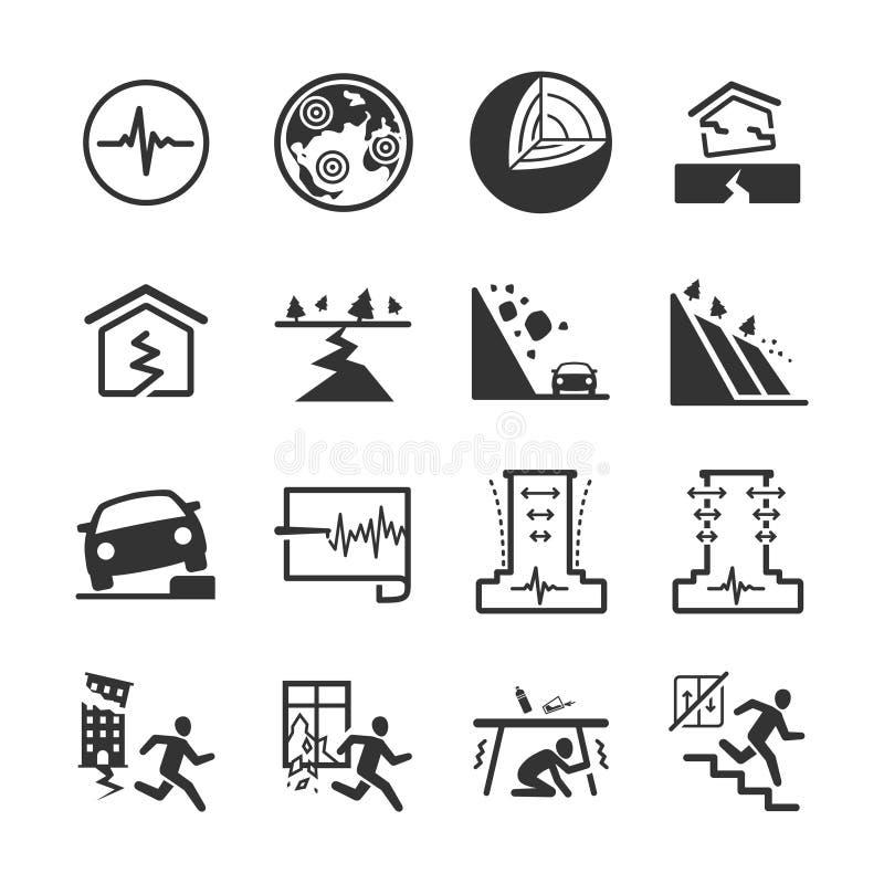 Earthquake and geology icons set 2. Flat Design Vector Illustration: Earthquake and geology icons set 2 royalty free illustration