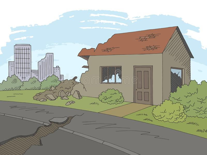 40+ Most Popular Cartoon Realistic Earthquake Drawing