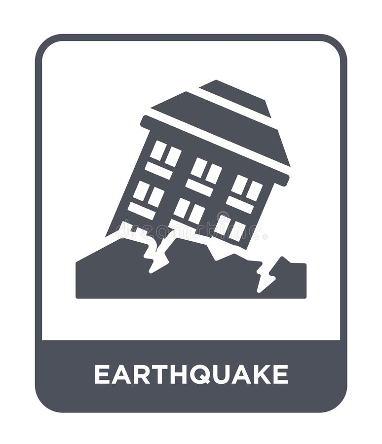 Earthquake Icon In Trendy Design Style Earthquake Icon Isolated On White Background Earthquake Vector Icon Simple And Modern Stock Vector Illustration Of Wave Crisis 135748533