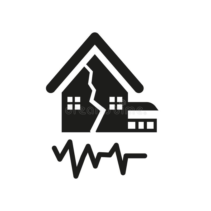 Earthquake icon. Trendy Earthquake logo concept on white background from Weather collection stock illustration