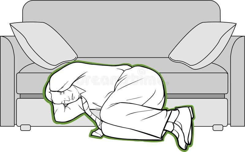 Earthquake protection methods royalty free illustration