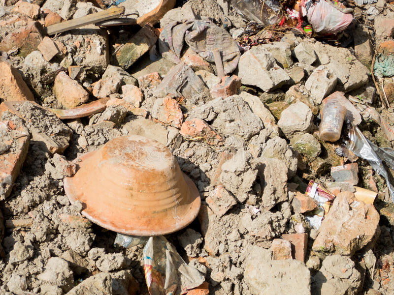 Earthquake Rubble royalty free stock photo