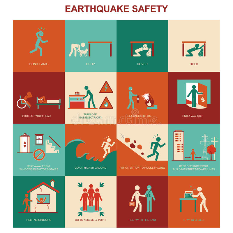 Tsunami And Earthquake Vector Illustration Stock Photo Manual Guide