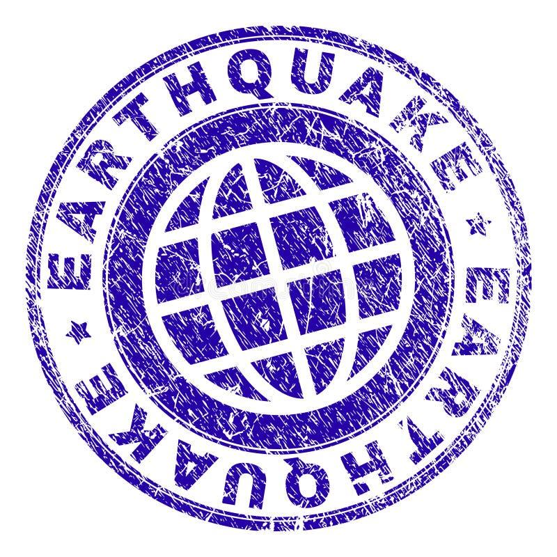 Grunge Textured EARTHQUAKE Stamp Seal stock illustration