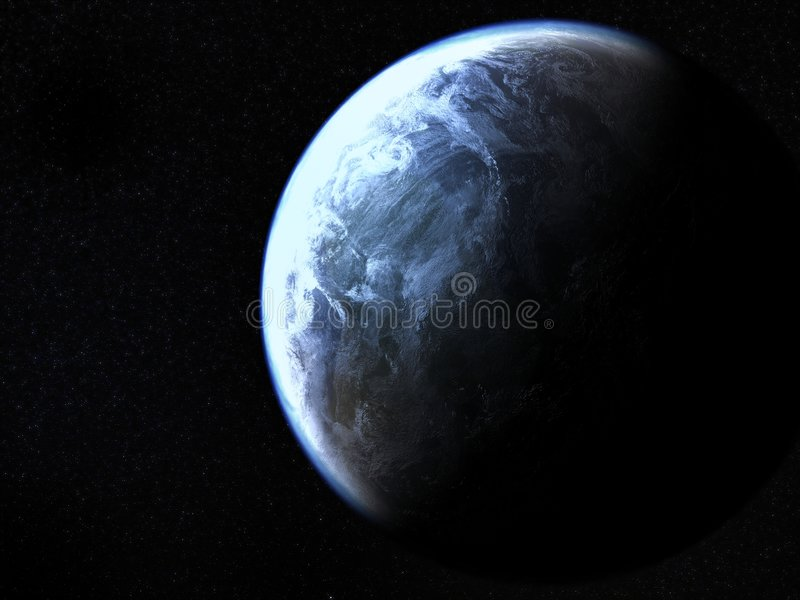 Earthrendering royalty free stock photo