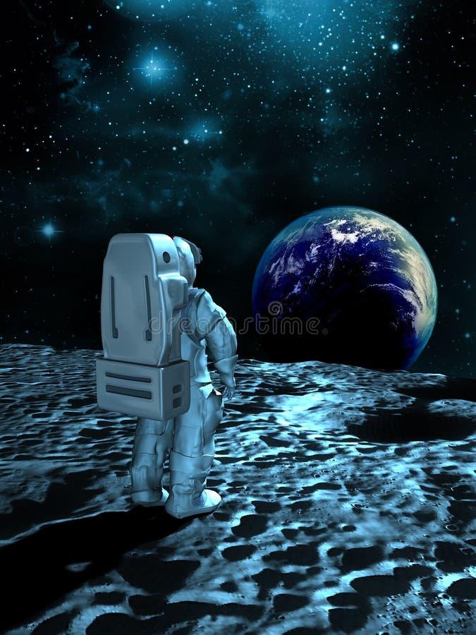 Earthrise royalty free illustration