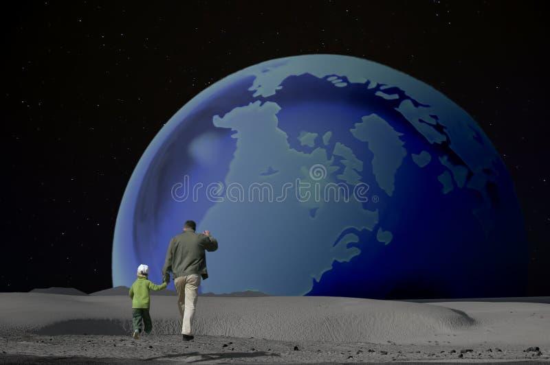 Earthrise: Un salto gigante royalty illustrazione gratis
