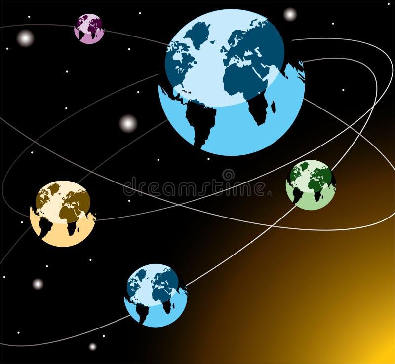 Earths on orbits
