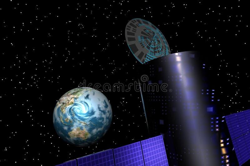 Earthsat1 Στοκ Φωτογραφίες