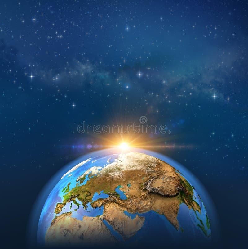 Earthscape im Weltraum stock abbildung
