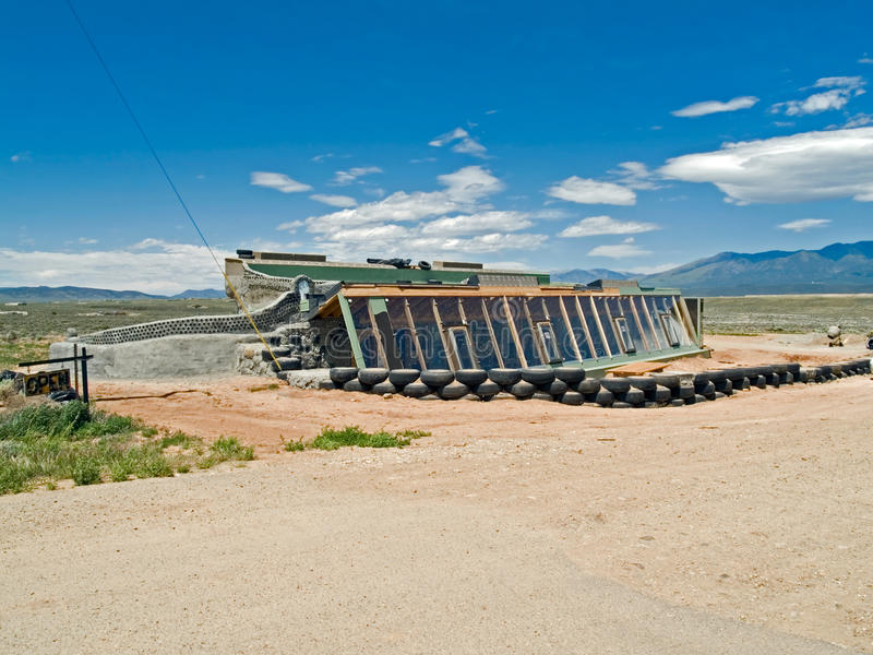 Earthship under construction royalty free stock image
