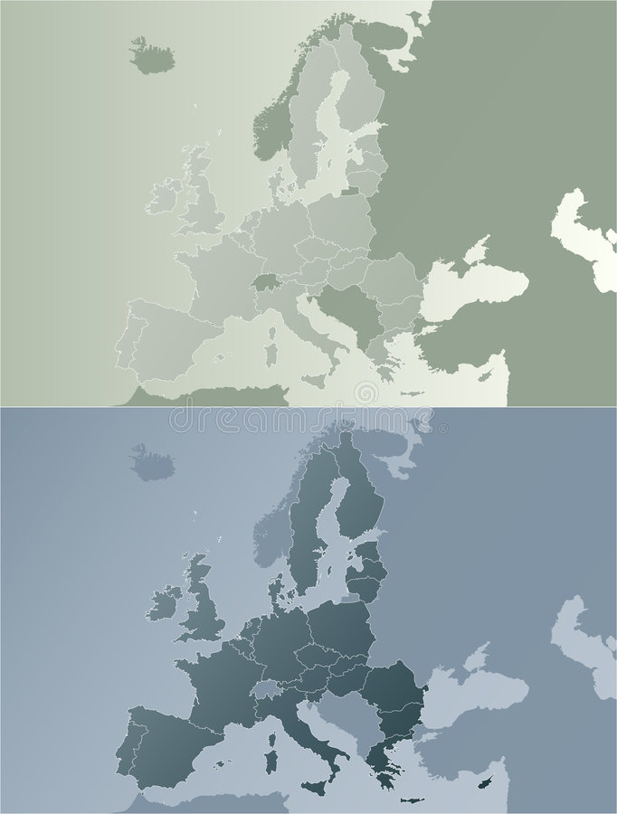 earthtones欧洲映射联盟 向量例证