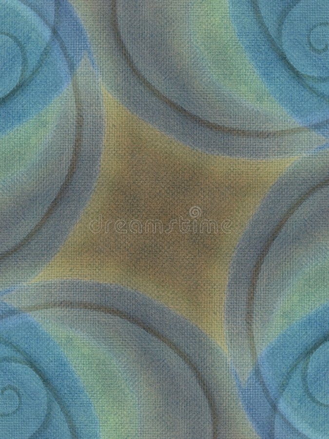 Earthy Canvas Background Blue. A swirl of blue, light green and brown texture and colors generated using real oil pants on canvas and digitally altered to stock images