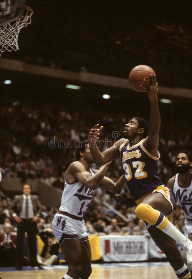 Earvin Magic Johnson fotos de archivo