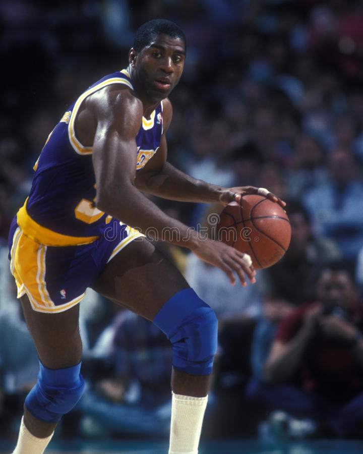 Earvin Magic Johnson. Los Angeles Lakers legend Earvin Magic Johnson. (Image taken from color slide stock photography