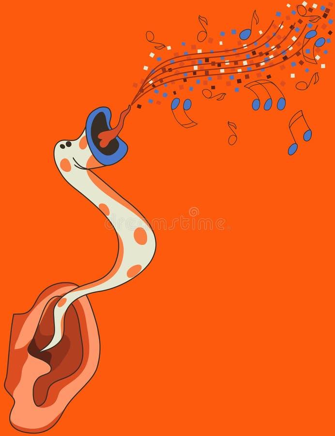 Download Earworm stock vector. Illustration of orange, poster - 13083534