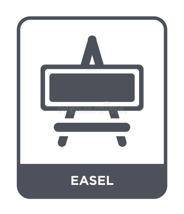 easel εικονίδιο στο καθιερώνον τη μόδα ύφος σχεδίου Easel εικονίδιο που απομονώνεται στο άσπρο υπόβαθρο easel διανυσματικό απλό κ διανυσματική απεικόνιση