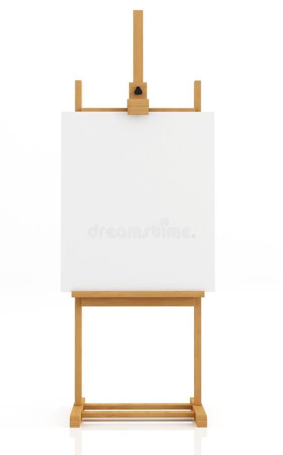 easel καλλιτεχνών διανυσματική απεικόνιση