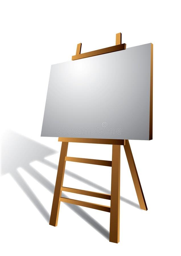 easel καμβά τέχνης ξύλινο ελεύθερη απεικόνιση δικαιώματος