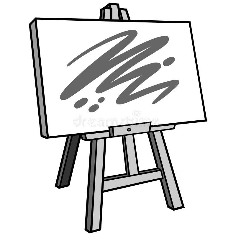 Easel τέχνης απεικόνιση διανυσματική απεικόνιση