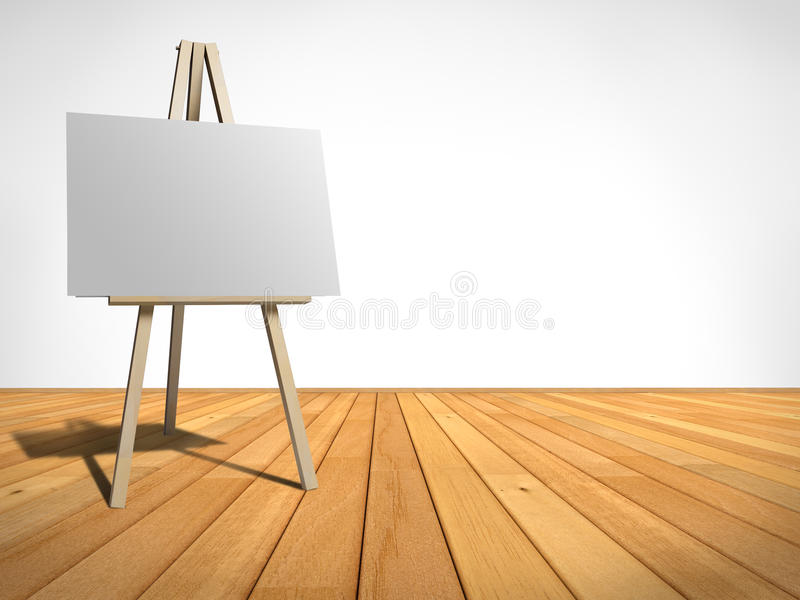 Easel. Empty room with an easel royalty free illustration