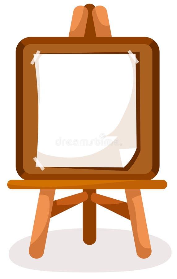Easel stock illustration