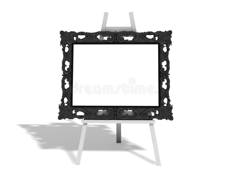 Easel royalty free illustration